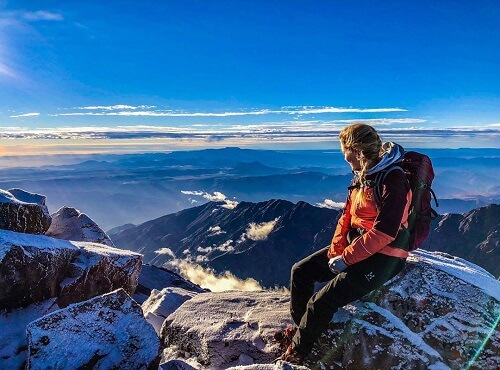 view from the summit of toubkal