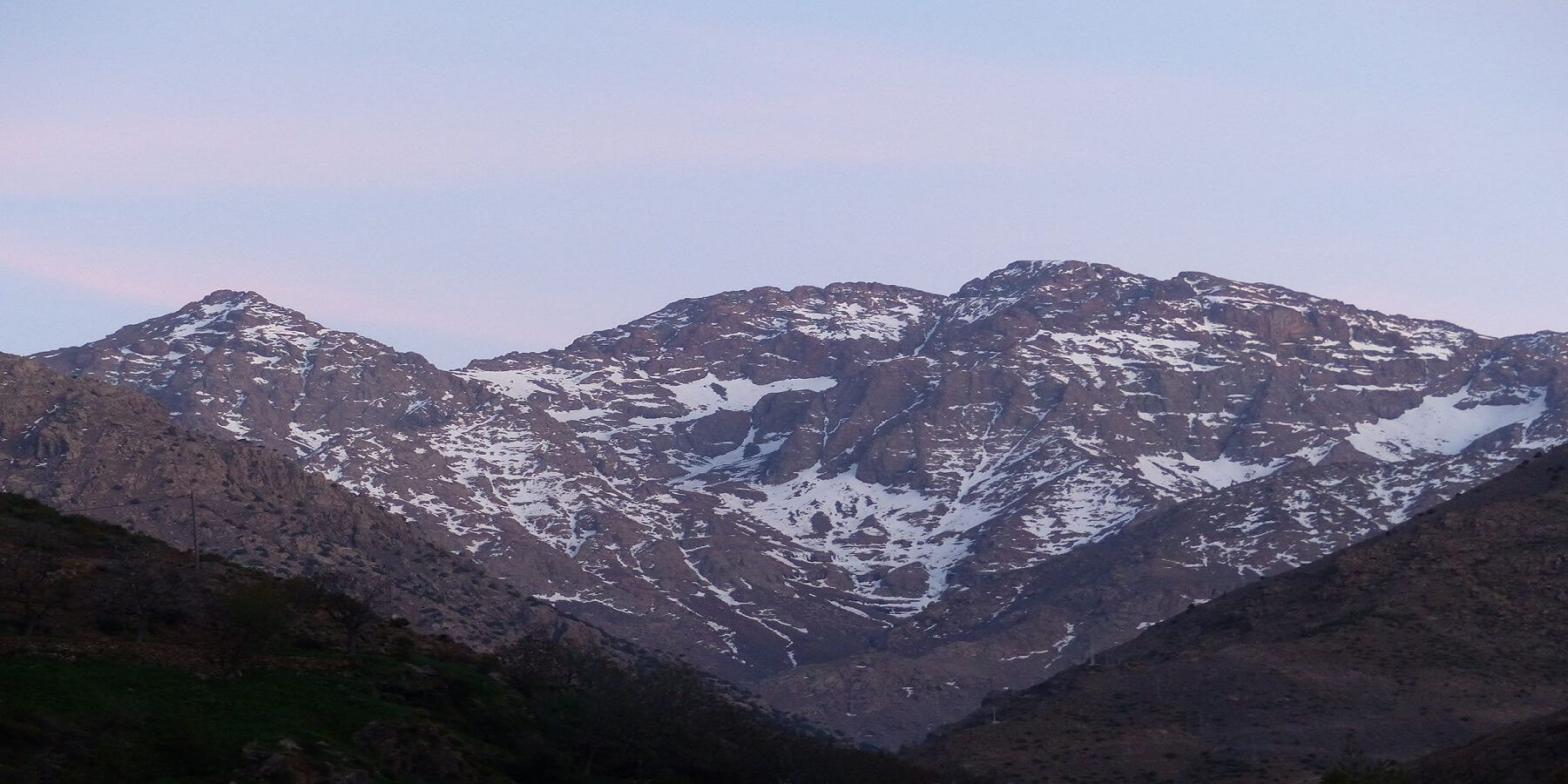 view from the atlas mountains