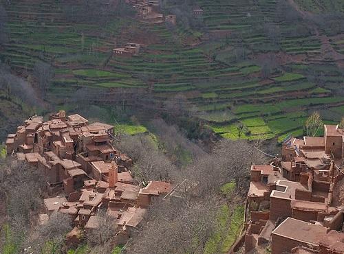 berber village in atlas mountains