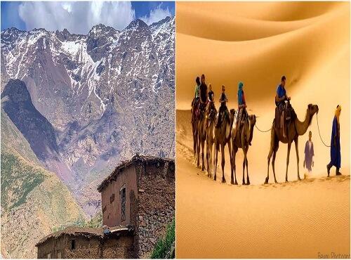 atlas mountains with sahara desert