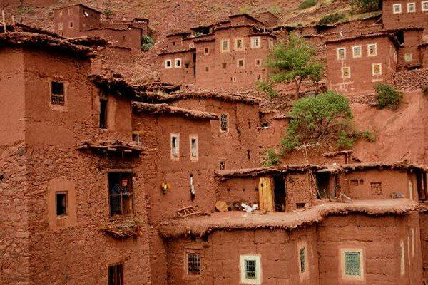 berber buildings in atlas mountains