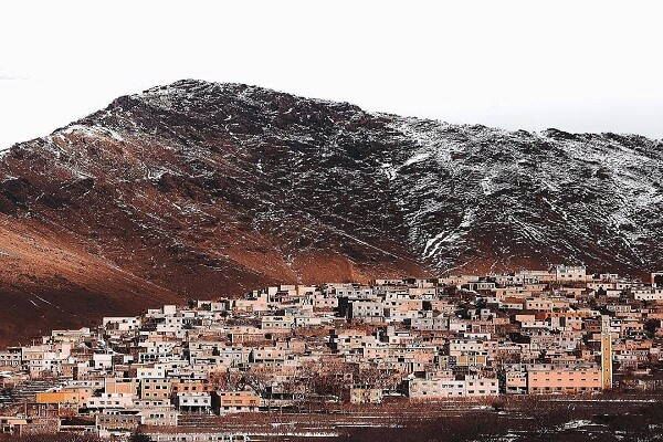 berber village with mountains in the back