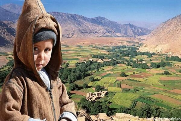 a boy in ait bouguemez valley