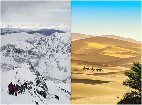mount toubkal and sahara desert