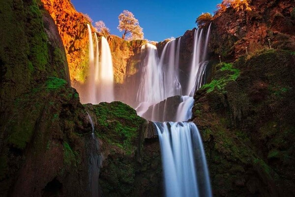 a big waterfalls in morocco