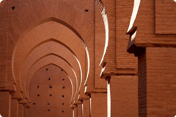 dicorative mosque in morocco