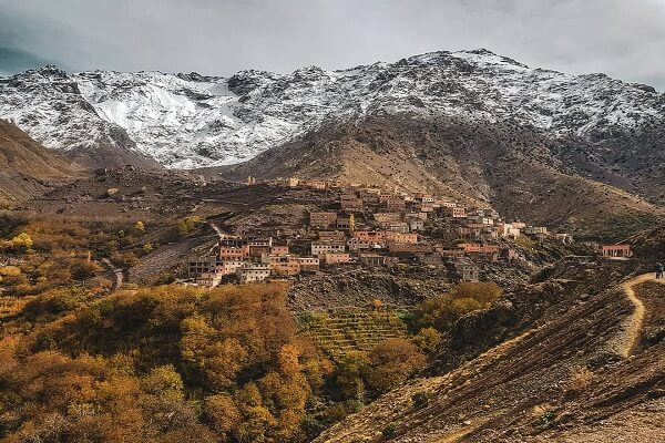 berber village and mountains in back
