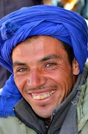a person smiling