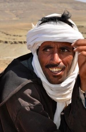 man with scarf on