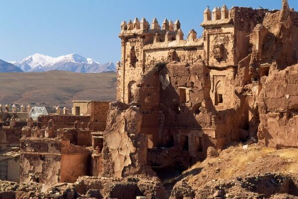 kasbah telouat in high atlas