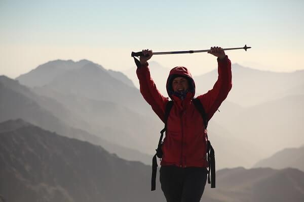 girl walking in mountain